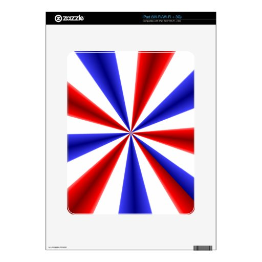 Red White and Blue Decals For The iPad