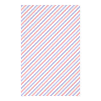 Red, White, and Blue Diagonal Stripes Stationery