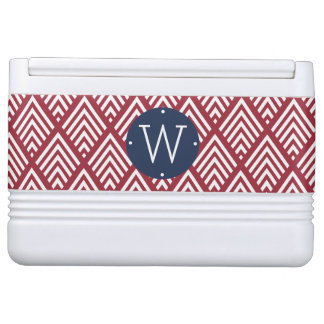 Red, White and Blue Diamond Monogram Cooler