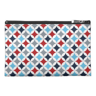 Red White And Blue Diamonds Travel Accessory Bags