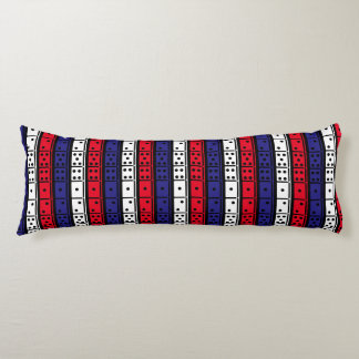 Red, White and Blue Dominoes Design Body Pillow