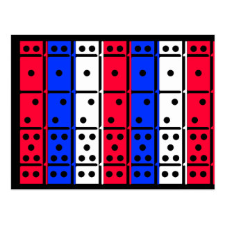 Red White and Blue Dominos Designed Postcard