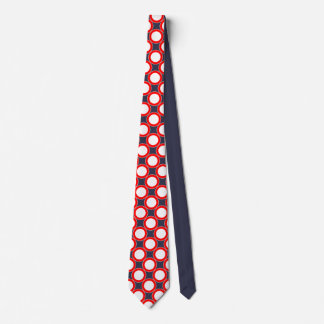 Red White and Blue Dotted Tie