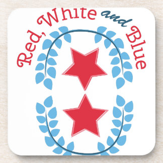 Red White And Blue Drink Coasters