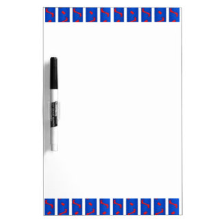 Red White and Blue Dry Erase Board