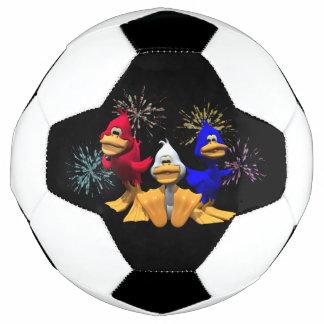 Red, White and Blue Ducks Soccer Ball