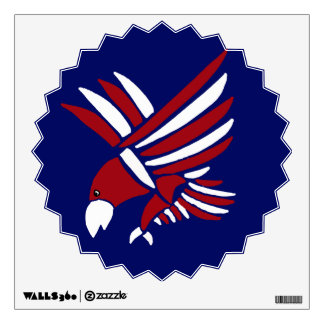Red, White, and Blue Eagle Art Wall Decal