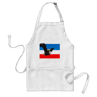 RED WHITE AND BLUE EAGLE LANDING APRONS
