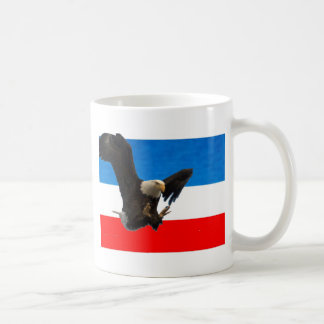 RED WHITE AND BLUE EAGLE LANDING MUGS
