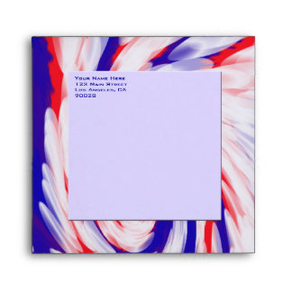 red white and blue envelope