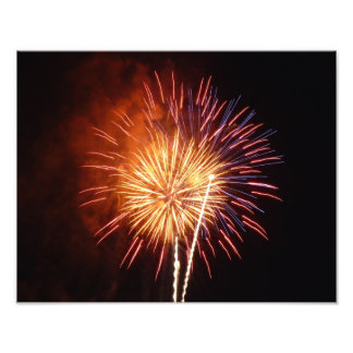 Red, White and Blue Fireworks I Patriotic Photo Print