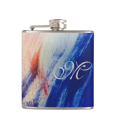 Red White and Blue Flask