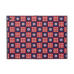 Red White and Blue Flower Patchwork Quilt Pattern iPad Mini Case