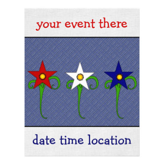 Red, White, and Blue Flowers Flyer
