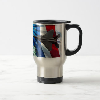 RED WHITE AND BLUE FLY-BY COFFEE MUG
