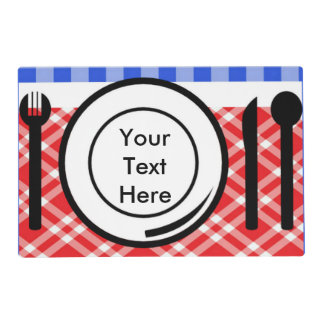 Red White and Blue Gingham Picnic Placemat