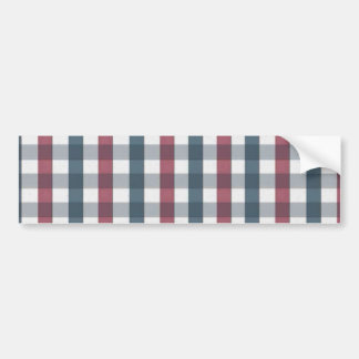 Red White and Blue Gingham Plaid Bumper Sticker