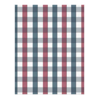 Red White and Blue Gingham Plaid Flyer
