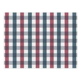 Red White and Blue Gingham Plaid Postcard
