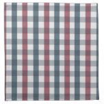 Red White and Blue Gingham Plaid Printed Napkins