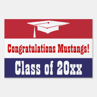 Red, White and Blue Graduation Sign