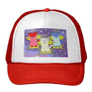 Red, White, and Blue Guardian Cat Angel Nekos Trucker Hat