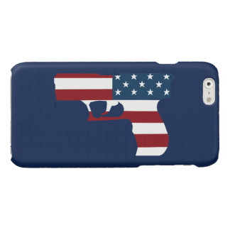 Red White And Blue Gun iPhone 6 Case
