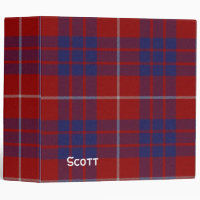 Red, White, and Blue Hamilton Plaid Binder