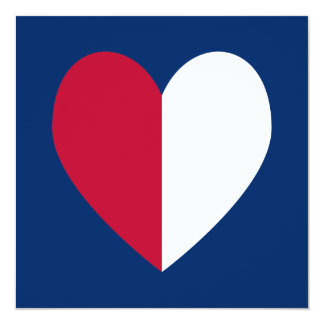Red White and Blue Heart Card