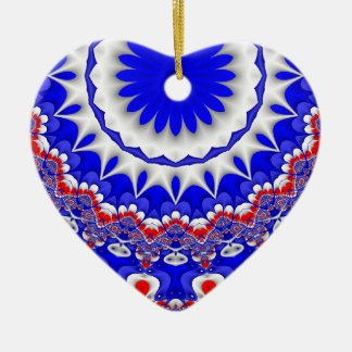 Red, white, and Blue Heart Ornament
