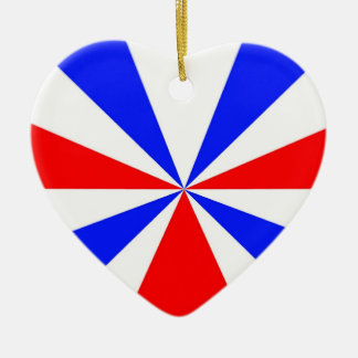 Red White and Blue Heart Ornament