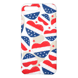 Red, White and Blue Hearts iPhone 8 Plus/7 Plus Case