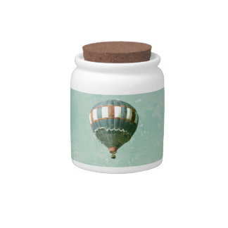 Red White and Blue Hot Air Balloon Candy Jars
