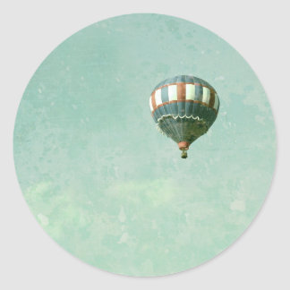 Red White and Blue Hot Air Balloon Classic Round Sticker
