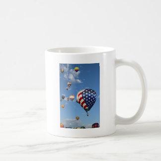 Red, White and Blue Hot Air Balloon Coffee Mug