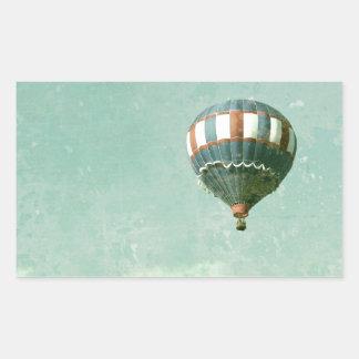 Red White and Blue Hot Air Balloon Rectangular Sticker