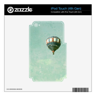 Red White and Blue Hot Air Balloon iPod Touch 4G Skins