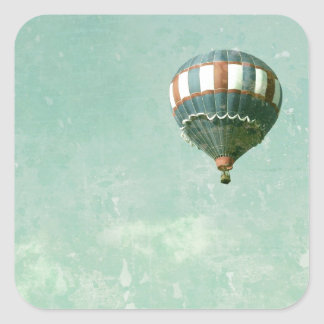 Red White and Blue Hot Air Balloon Square Sticker
