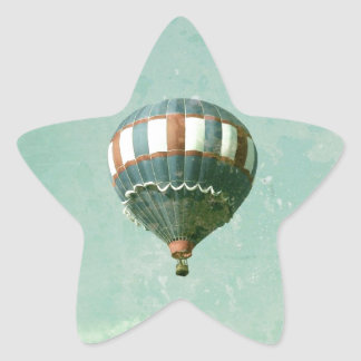 Red White and Blue Hot Air Balloon Star Sticker