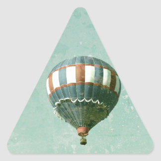 Red White and Blue Hot Air Balloon Triangle Sticker