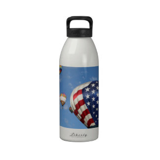 Red, White and Blue Hot Air Balloon Drinking Bottles