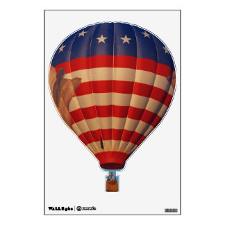 Red, White and Blue Hotair Balloon Wall Sticker