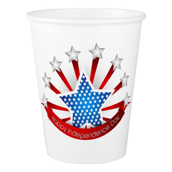 Red White and Blue Independence Day Paper Cup