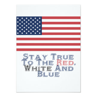 Red, White and Blue Personalized Invite