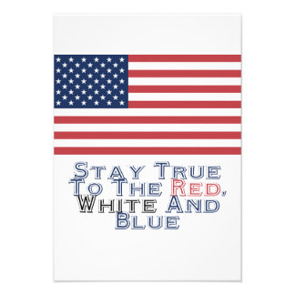 Red White and Blue Invites