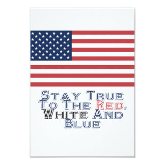 Red, White and Blue Invites