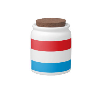 Red, White and Blue Jar Candy Dish