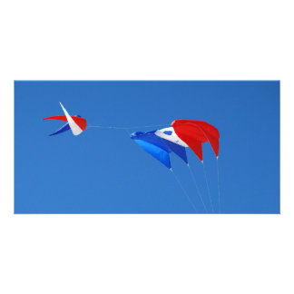 Red, White, And Blue Kite Card