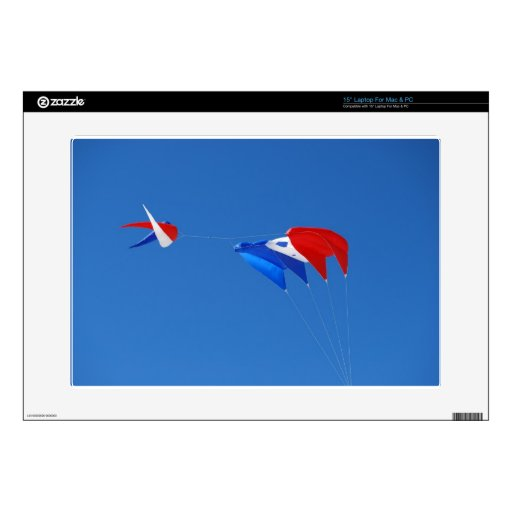 Red, White, And Blue Kite Decal For Laptop