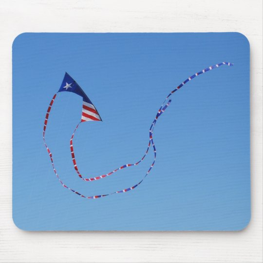 Red, White, And Blue Kite Mouse Pad